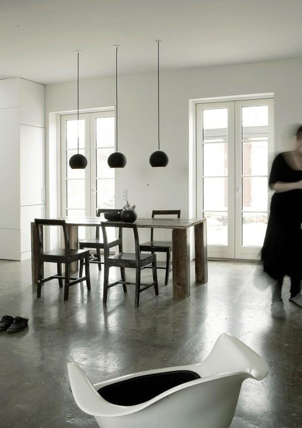 Modern rustic dining room #interior #house #modern #rustic #architecture #studio #art #paintings #artist