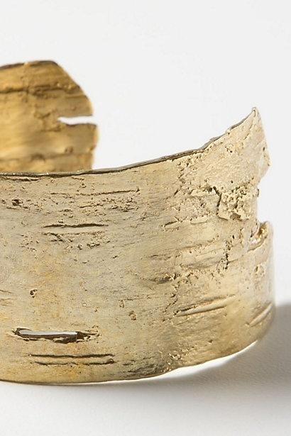 Golden Birch Cuff #golden #gold