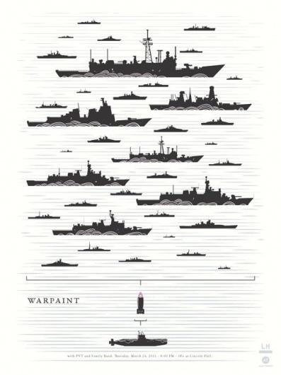 Warpaint_LincolnHall.jpg (500×667) #illustration #minimal #poster #typography