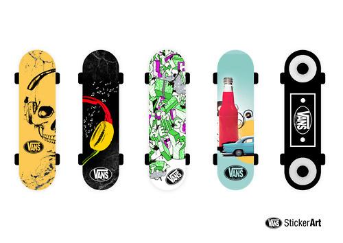 VANS Sticker Art #design #boards #skate #vans #art #sticker