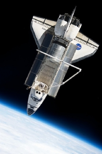 Photography in Space #nasa #space #shuttle