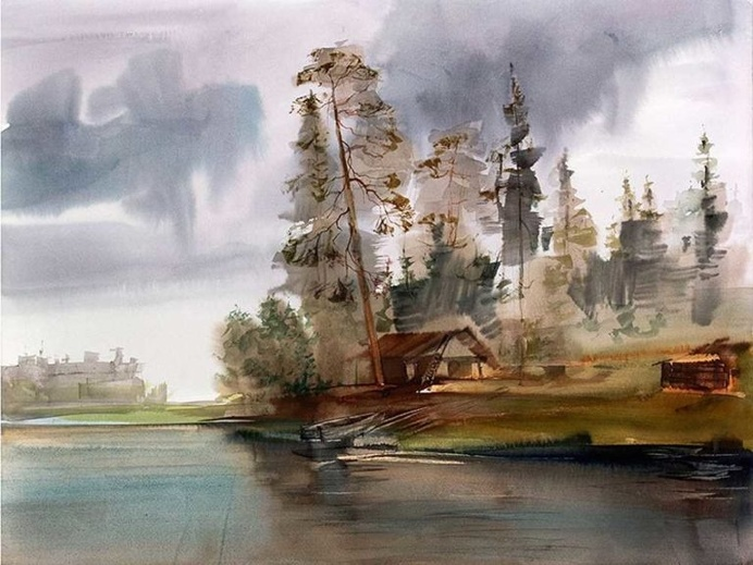 Beautiful Watercolor Paintings by Yuri Lomkov