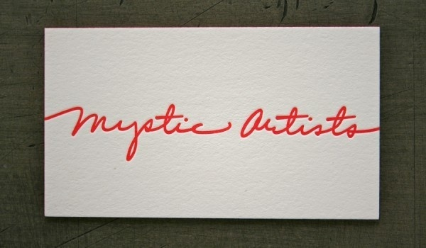 Mystic Artists #business #card #print #letter #press #cotton #stock