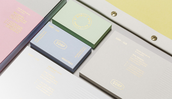 Soap Industries #print #foil #stamp #business #card #gold #stationery