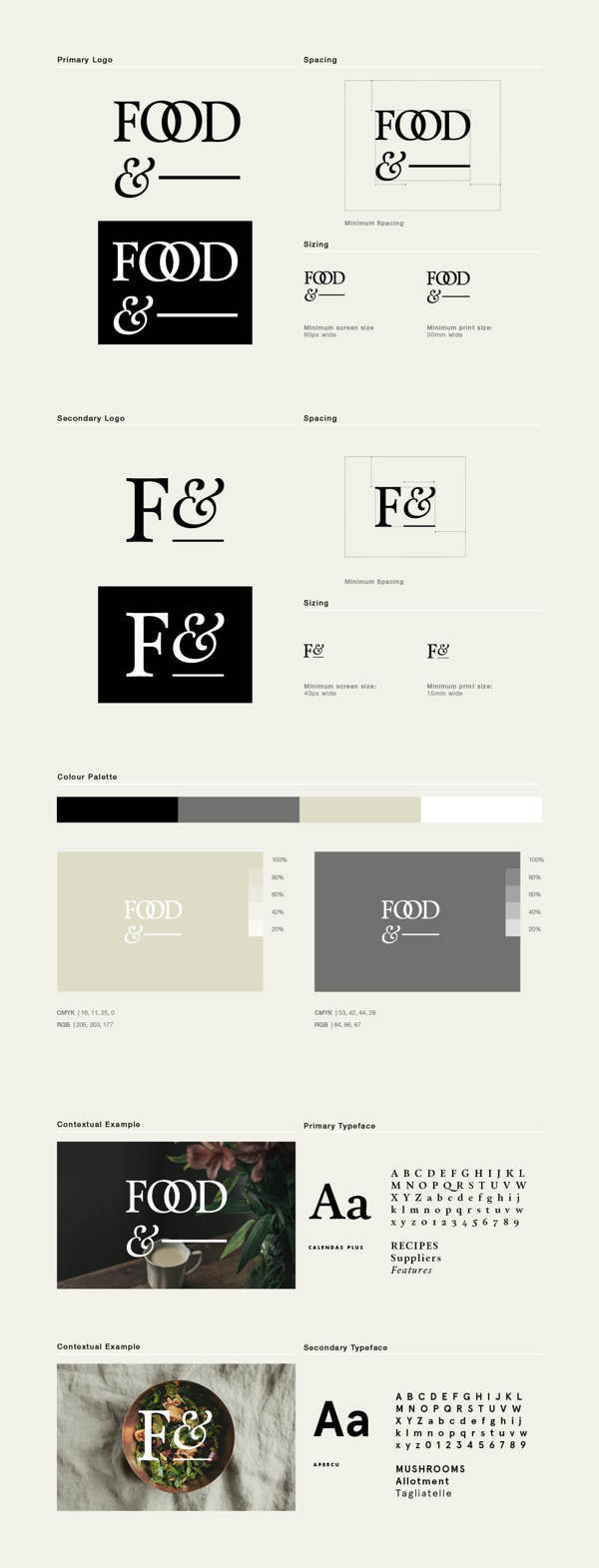 Food& on Behance #brand #food