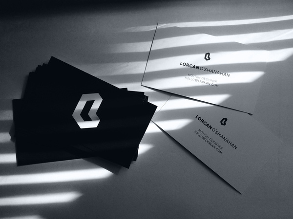 Personal Branding | Lorcan O'Shanahan #white #card #grayscale #black #lorc #identity #logo