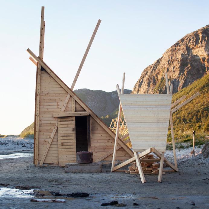 rintala eggertsson architects salt festival installations norway designboom #norway