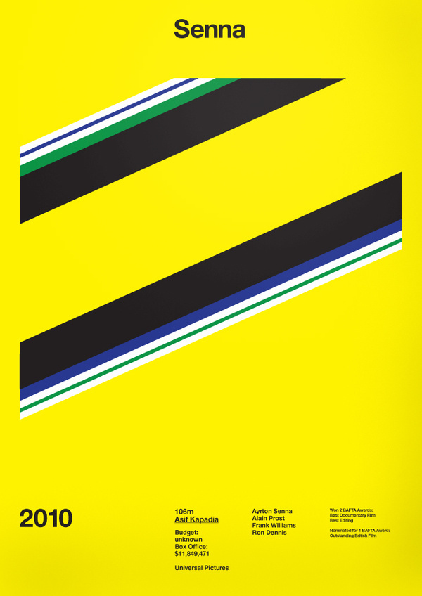 Senna Film Poster by A.N.D Studio #movie #swiss #modern #design #graphic #grid #poster #film #typography