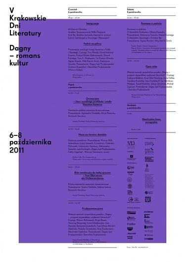 V krakowskie dni literatury : portfolio #poster