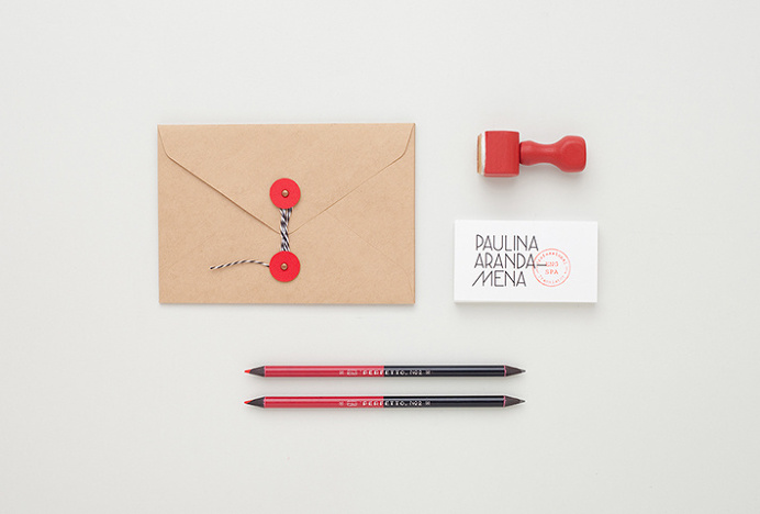 Paulina Aranda—Mena by Menta . #graphic #design #typography #envelope