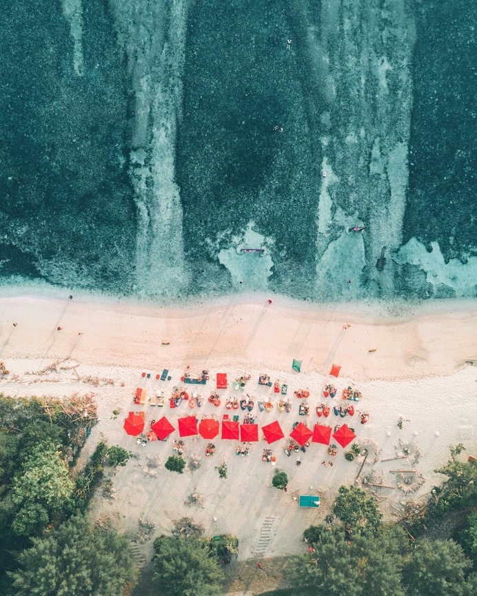 """Unsplash on Instagram: """"Beach Day⠀ """"While relaxing on the beach on the island of Gili T, I decided to throw the drone up and snap a pict"""