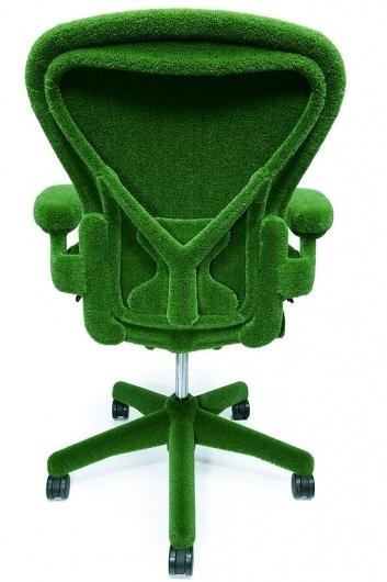 The AstroTurf Herman Miller Chair | Colossal #miller #grass #chair #design #furniture #industrial #herman