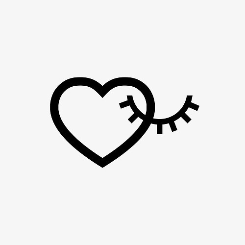 Heart #heart #logotype #right #white #woman #icon #design #graphic #black #eye #proposal #logo