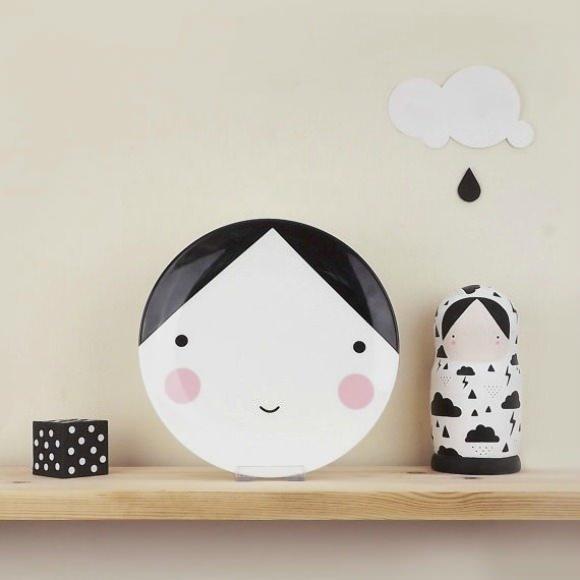 Ebony Plate for Kids from Sketch Inc. #interior #design #decor #deco #decoration