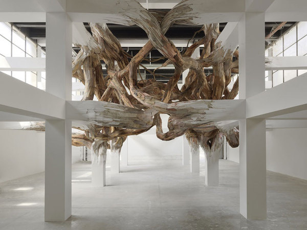 henrique oliveira: baitogogo at palais de tokyo, paris #wood