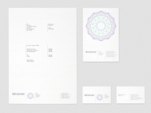 Manual - BeTrained #logo #identity #branding #stationery