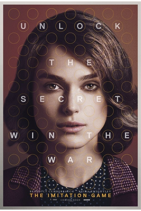 FIRST LOOK: Keira Knightley The Imitation Game poster exclusive #inspiration #design #graphic #poster #typography