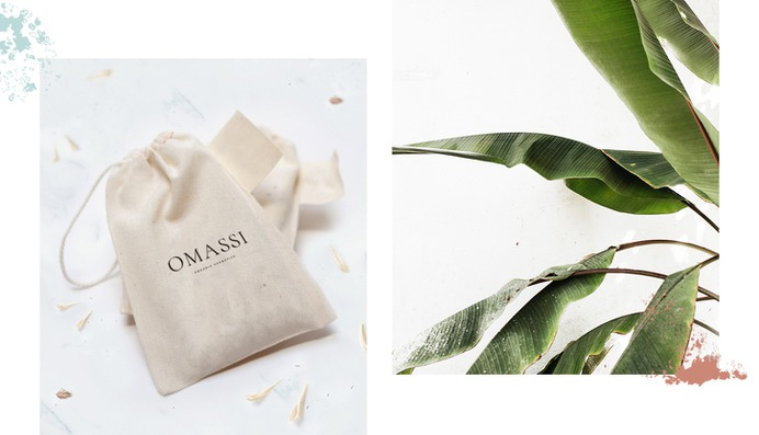 Omassi Branding - Mindsparkle Mag 327 Creative Studio designed Omassi – a natural cosmetics brand that provides a careful selection of products for all who wish to harness the power of nature on their skin. #logo #packaging #identity #branding #design #color #photography #graphic #design #gallery #blog #project #mindsparkle #mag #beautiful #portfolio #designer