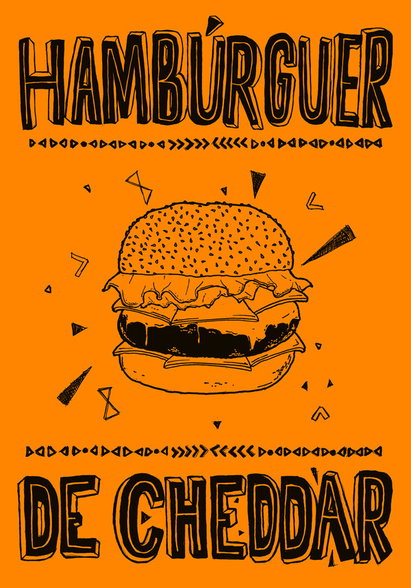 Food Posters on Behance #food #lettering #poster #typography