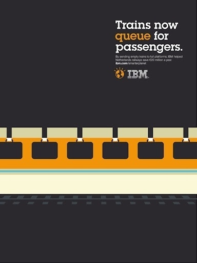 Dutch Uncle Agency { News Blog }: Noma Bar •IBM 'Oucomes' Campaign #negative #space #bar #ibm #poster #noma