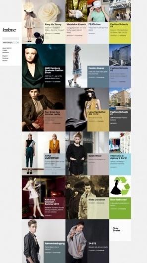 Faebric on Grid Based #fashion #grid #website