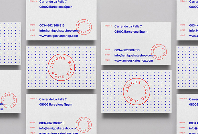 Amigos Skate Shop by Jorge León #graphic design #business cards #print