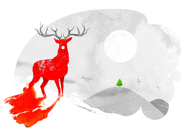 Christmas Illustration collection on the Behance Network #christmas