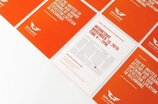 Rocanini Coffee Roasters on the Behance Network / Bench.li #design #typography