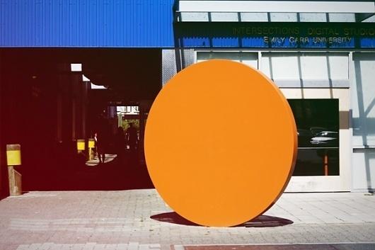 Jag Nagra is Page 84 Design #installation #round #orange #photography #art #circle