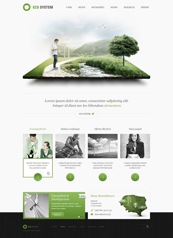 Eco System on Behance #webdesign