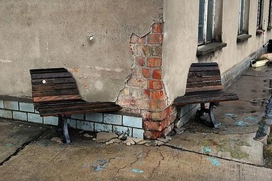 Marieaunet: Bankenkrise I #bench #art #installation