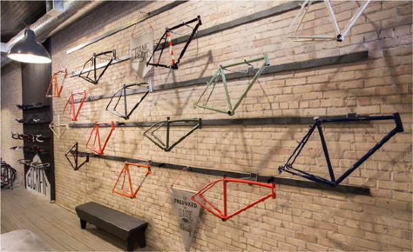 Handsome Cycles / Retail Store in Minneapolis by Marina Groh #bicycle #store #bicycles #frames #marina #bike #retail #minneapolis #groh