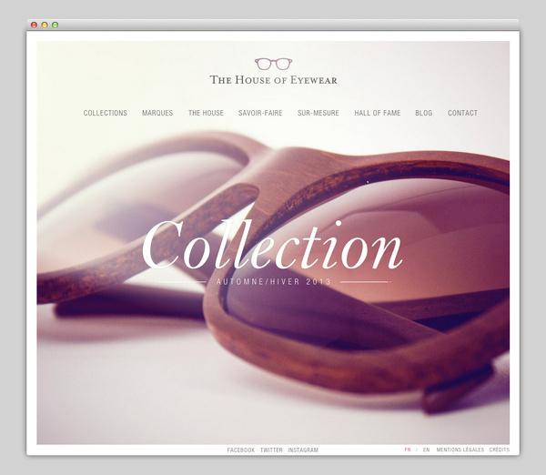 The House of Eyewear #website #layout #design #web