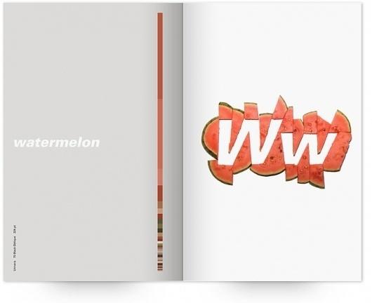 UW Design Show 2011 | Derek Chan #univers #print #design #graphic #book #publication #watermelon #typography