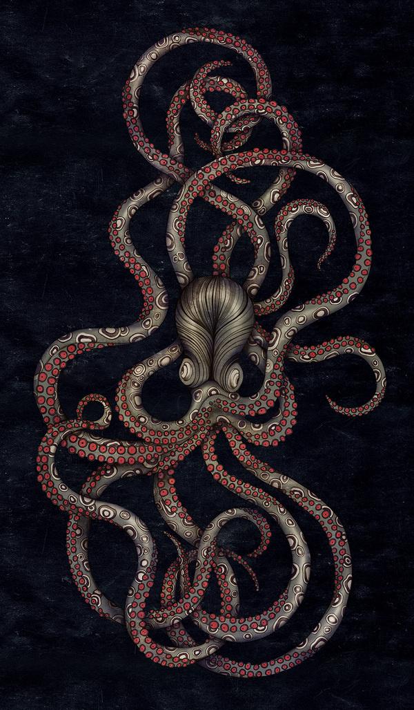 HealTheBay_Octopus_poster02.jpg #craken #illustration #design #octopus