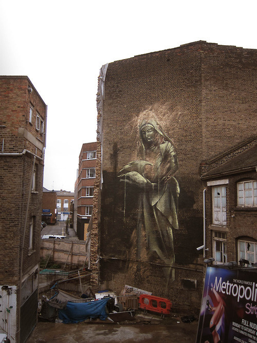 "CJWHO ™ (""London. You Beast."" Faith47) #beast #uk #graffiti #london #illustration #art #street #faith47"