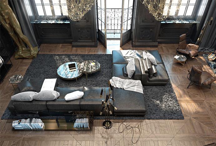 Attractive Paris Apartment by Iryna Dzhemesiuk and Vitaly Yurov - interior design, interior, #decor, home decor, home #design, #interiordesi
