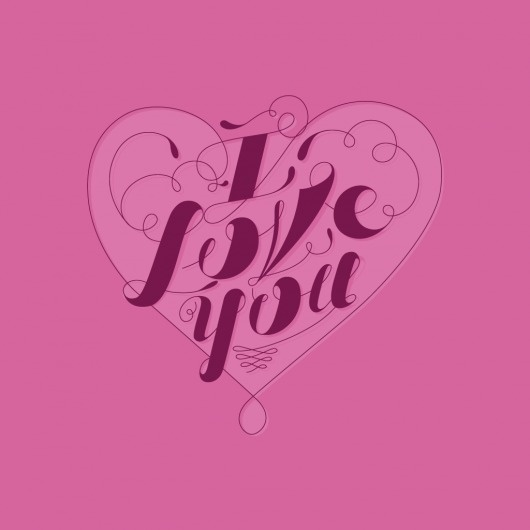 The Phraseology Project - I Love You #i #you #design #phraseology #love #typography