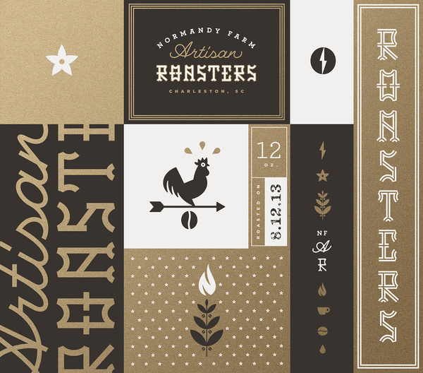 Normandy_farm_roasters_brand_board_j_fletcher #identity