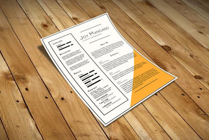 Joy Resume Template - Free Resume Template   Smashresume