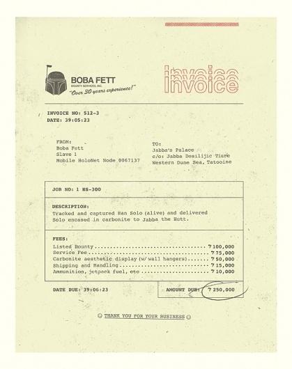 Boba's Invoice : brock davis #invoice #branding #design #graphic #identity #stationery #type #typography