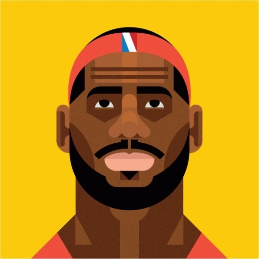 Always With Honor #always #lebron #geometric #illustration #portrait #honor #with