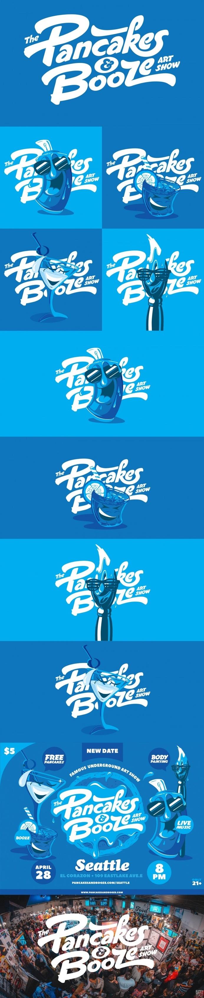 best logo design pancakes booze art images on designspiration