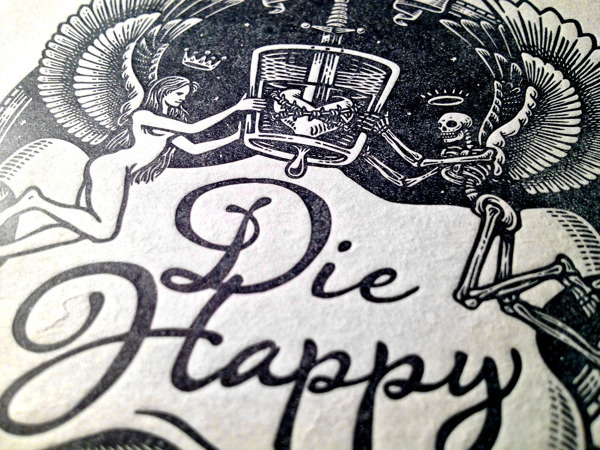 Die Happy #heart #skeleton #bob #angel #case #coaster