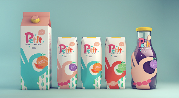 Petit Natural Juice packaging #branding #packaging #drink #design #food #product #identity #juice