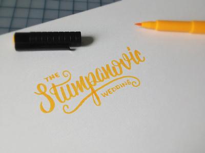 Stumpanovic Sketch #wedding #lettering #script #custom #type #hand #sketch #typography