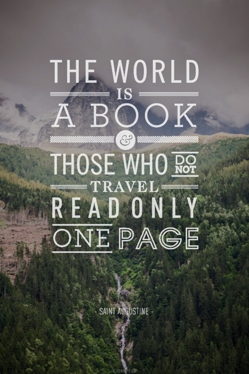 The world is a book | Inspiration DE