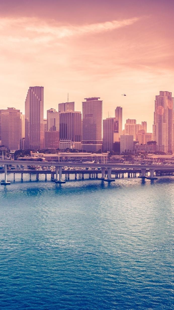 Miami Downtown Florida iPhone 6 Wallpaper