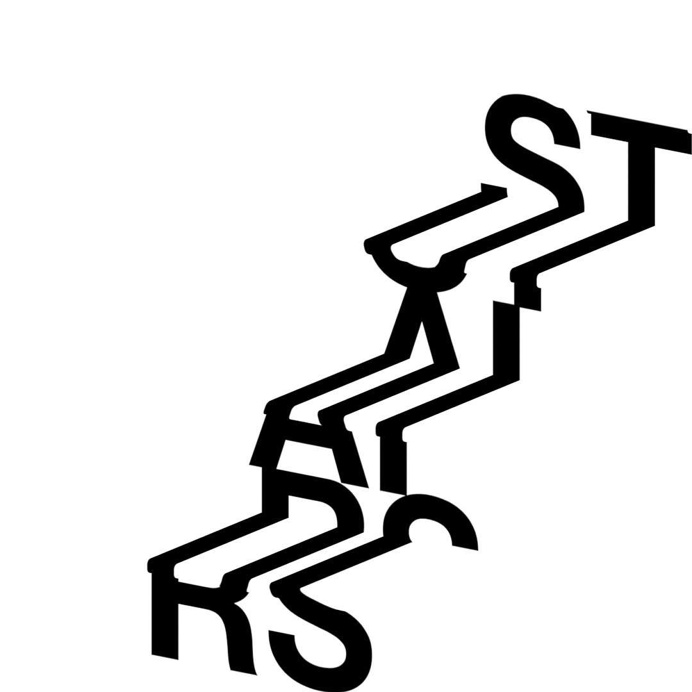 Stairs #stairs #optical #typography #letters #helvetica #design