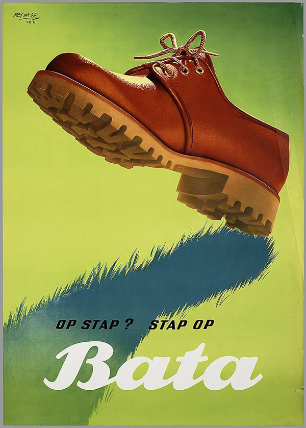 Koen van Os 50 Watts #foot #shoe #vintage #poster #boot #footprint #shadow